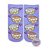 Cinnamon Roll Glitter Socks