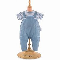 Striped T shirt & Overalls Corolle