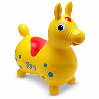 Rody Horse Yellow  Item is not blown up. Comes in box