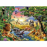 Evening at the Water Hole 100 pc
